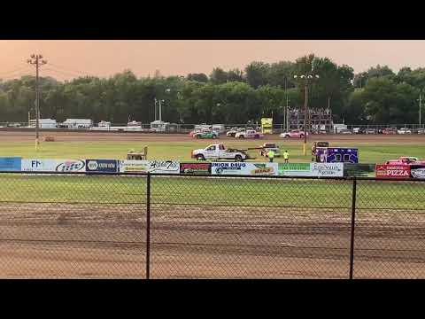 Fayette County Speedway West Union Iowa USRA stock car heat 7/24/19