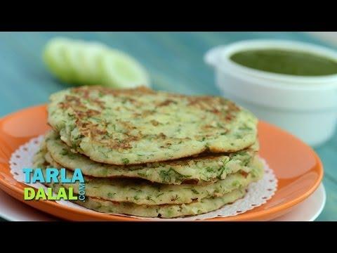 Cucumber Soya Pancake (Healthy Breakfast) by Tarla Dalal