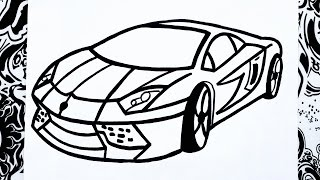 Como dibujar un carro | how to draw a car | como desenhar carros