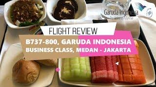 Medan - Jakarta | Garuda Indonesia Business Class B737-800 | Fruit Platter in Business Class