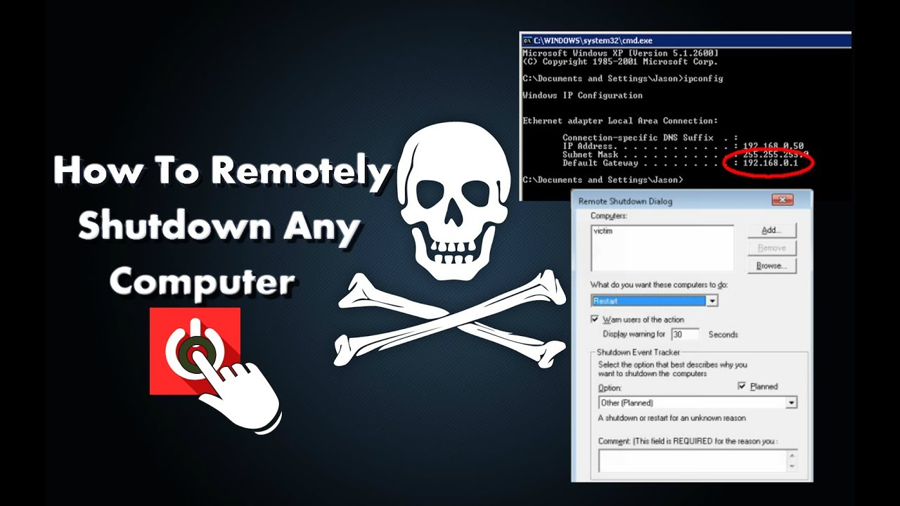 How to Remotely Shutdown any Computer with CMD New 2018