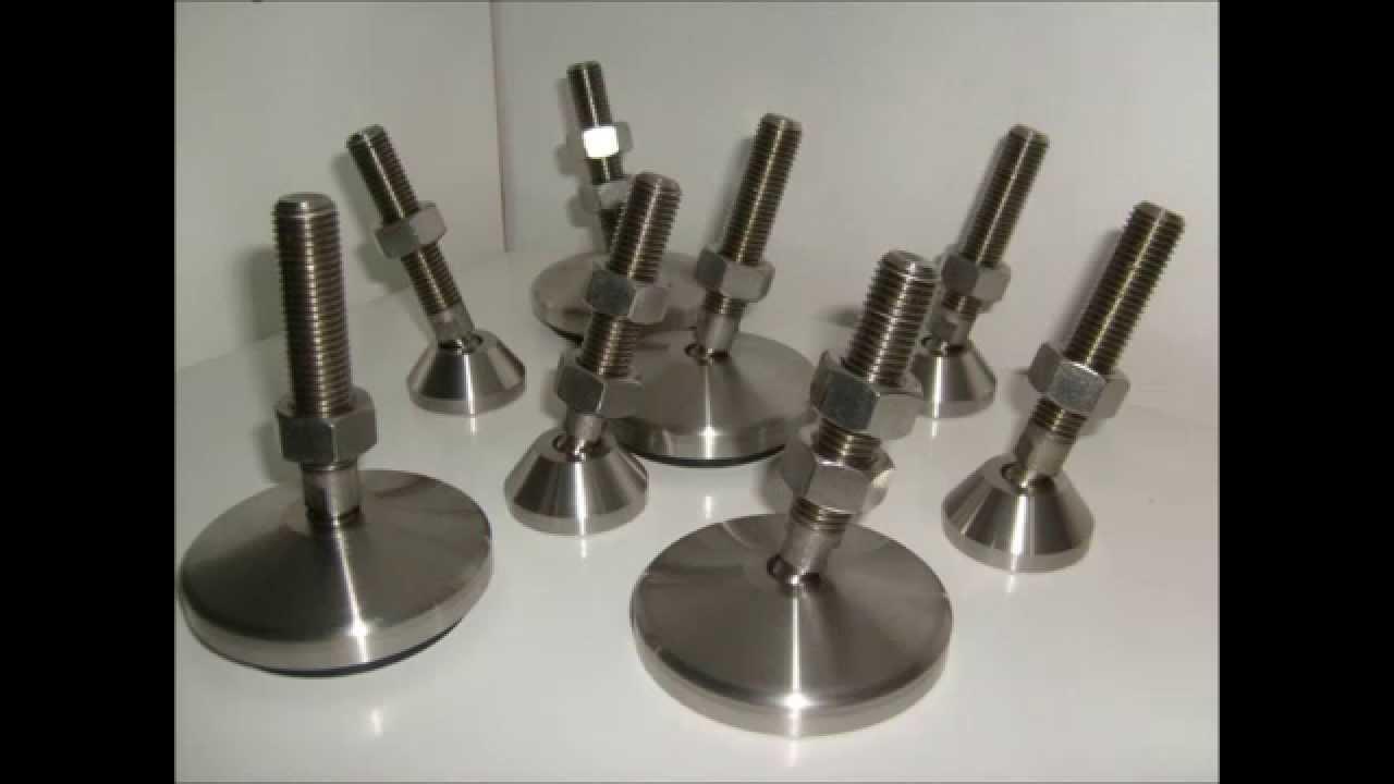 P s articulados met licos em a o inox com antivibrat rio for Pedestales metalicos para mesas