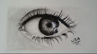[Eğitim]Gerçekçi göz nasıl çizilir?/[Tutorial]How to draw a realistic eye?