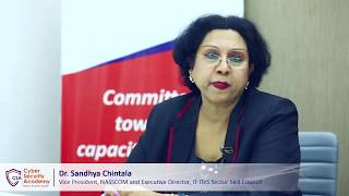 Dr. Sandhya Chintala, NASSCOM   Cyber Security Academy launch by Skill Cube