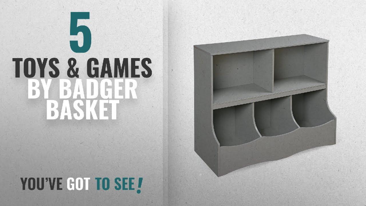 Top 10 Badger Basket Toys U0026 Games [2018]: Badger Basket Multi Bin Storage  Cubby, Gray