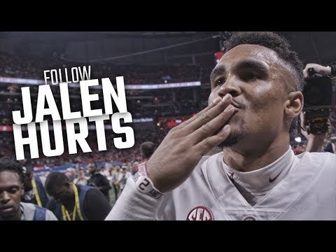 Follow SEC Championship hero Jalen Hurts after Alabama rallied to beat Georgia
