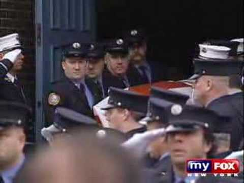 Funeral for slain FDNY Fire Marshal Douglas Mercereau