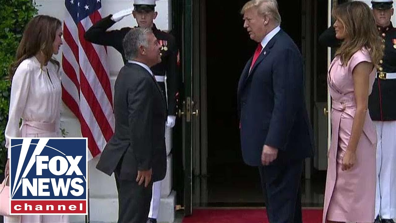 Trump Welcomes King Abdullah Ii To The White House Youtube
