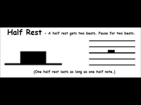 The Half Rest - Basic Music Theory For Beginners - Short Lesson