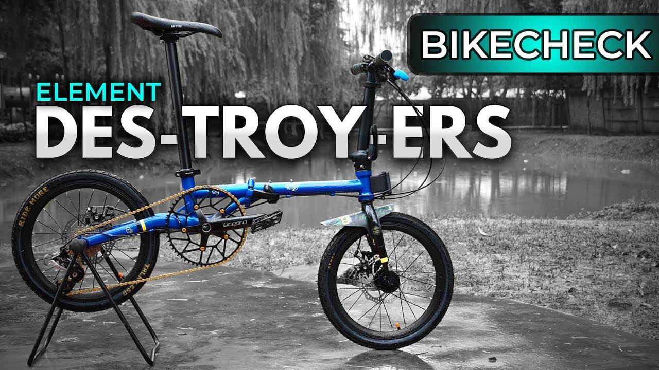 Rasa Mtb Review Dan Upgrade Element Troy Folding Bikes Indonesia Youtube