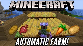 Minecraft 1.16 EASY Auto Wheat Farm Tutorial! [Works with carrots, potato, beetroot]