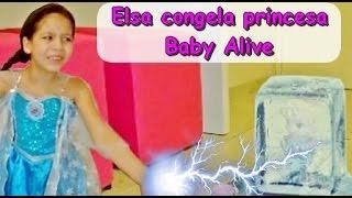FROZEN - ELSA CONGELA PRINCESA BABY ALIVE