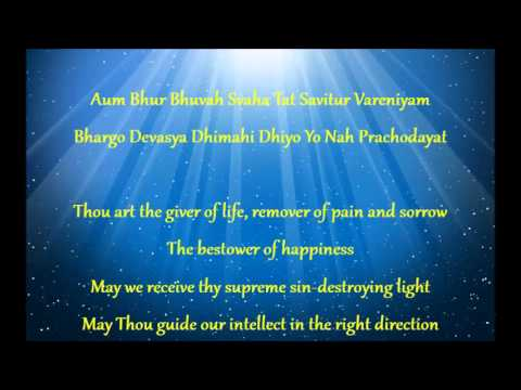 Gayatri Mantra with English Translation