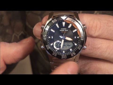 Часы Casio для Охотника, Рыболова, Дайвера - Marine Gear ProTreck Casio AMW-710D-1A