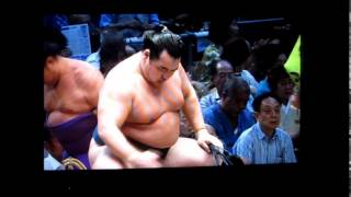 鶴竜vs佐田の海 平成27年大相撲七月場所 Sumo Kakuryu vs Sadanoumi.