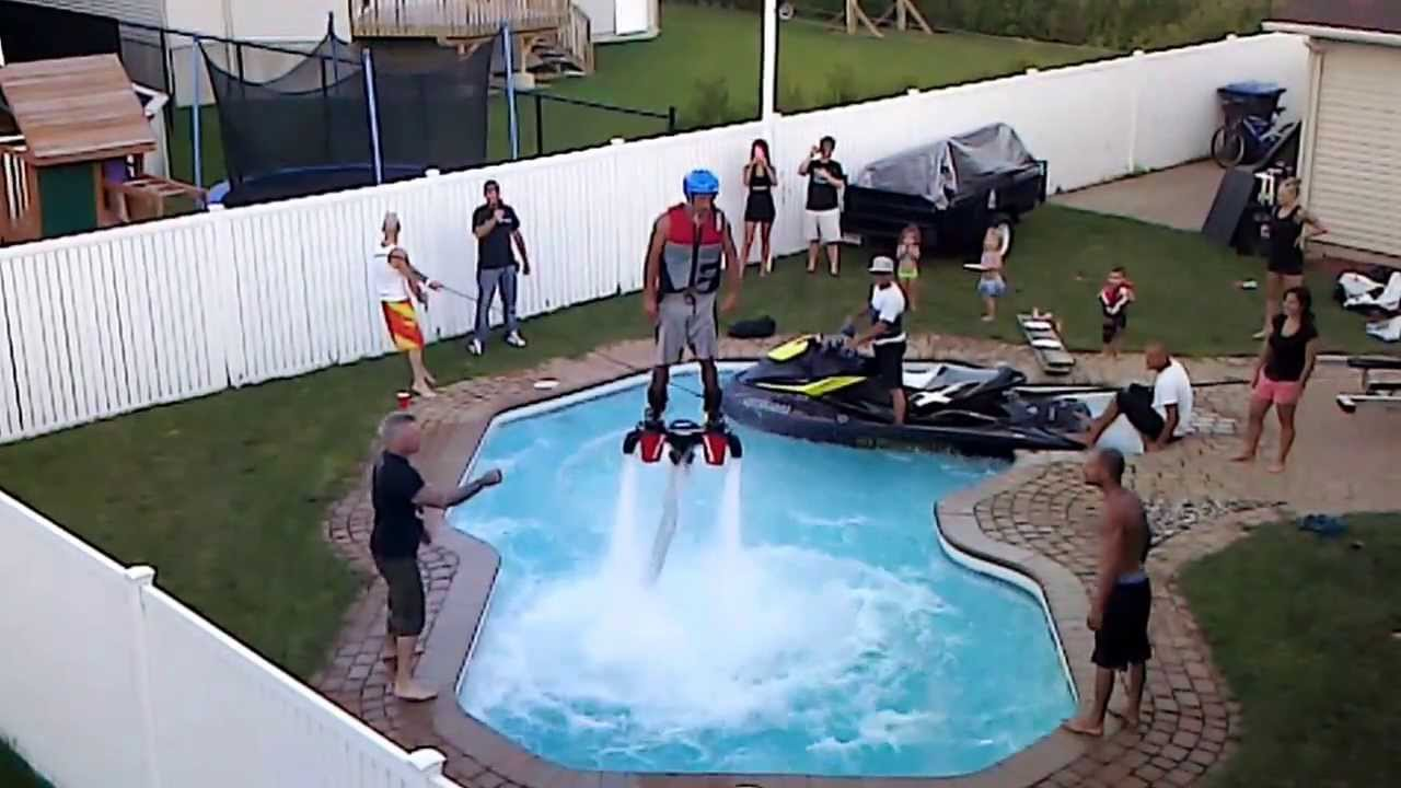 Flyboard dans une piscine youtube for Piscine youtube