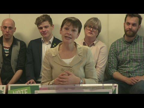 Caroline Lucas launches Green Party manifesto