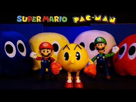 Super Mario Toys Movie - Mario & Pac-Man Team Up
