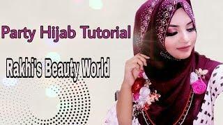 Elegant Party Hijab Tutorial 2018    By Afsana Rakhi