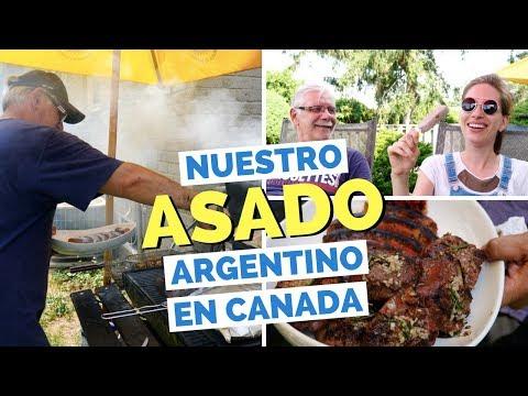Een Argentijnse gegrilde asado in Canada