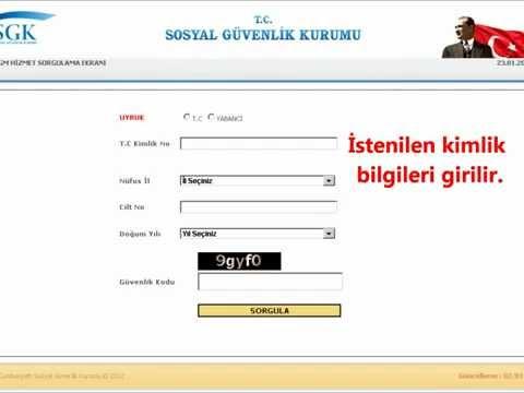 Şifresiz SSK Sorgulama