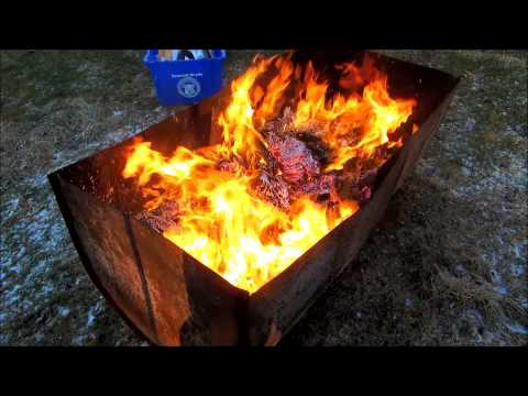 burning up some old office documents
