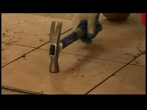 Home Repair How To Replace Cracked Tile Youtube