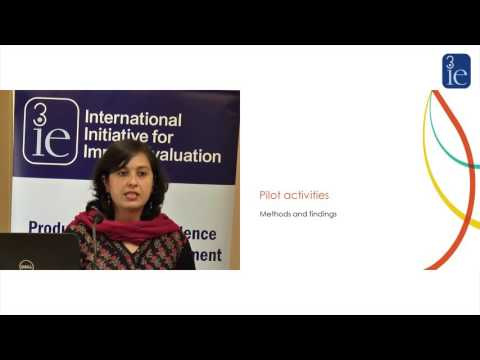 3ie Delhi seminar: The role and interpretation of pilot studies in impact evaluation research