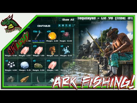 FISHING IN ARK!! HOW IT WORKS!!