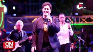 On screen: لقاء مع المطرب ملحم زين حول حفلاته في المدن السياحية المصرية