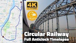 Kolkata Local Timelapse : Circular Railway Anticlock Journey Hyperlapse   GoPro Hero 7 4K screenshot 4