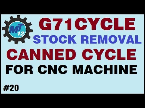 What Is Canned Cycle And How To Use G71 Stock Removal Canned Cycle For Cnc  Lathe Machine In Hindi