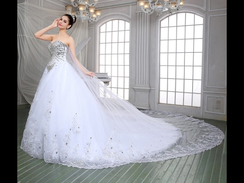 Latest Beautiful Wedding Bridal Gown Dresses In The World 2017 - YouTube