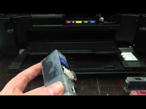 How to refill your cartridges on your edible image printer and test print tutorial
