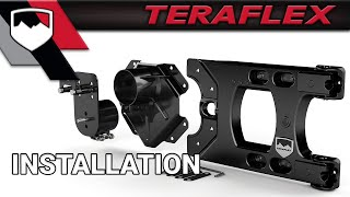 teraflex install hd hinged carrier and adjustable spare tire mounting kit