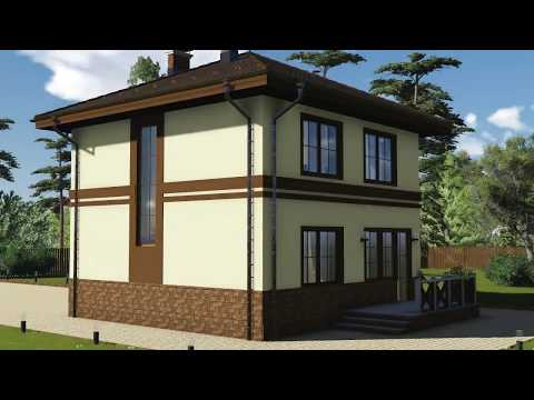 Проект двухэтажного дома 8 на 8, общей площадью 105 кв.м Калининград