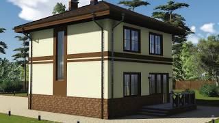 видео Проекты домов и коттеджей 8 на 8 с мансардой. Типовые проекты домов 8x8 с мансардой