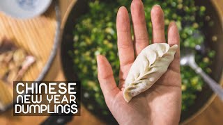 Making Chinese New Year Dumplings