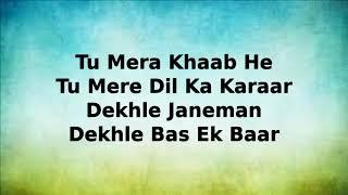 DILBAR Song Karaoke with lyrics