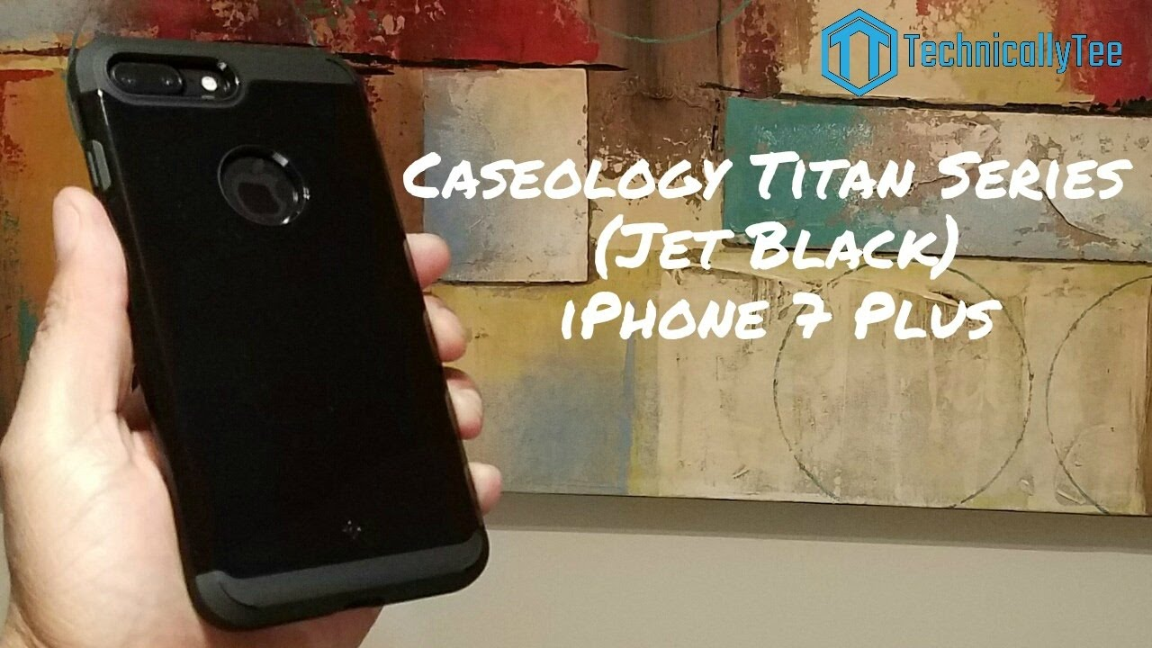 watch 822f6 ac2a9 iPhone 7 Plus Caseology Jet Black Titan Series Case Review!