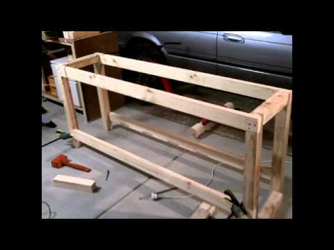 s amp scustoms how to build a garage workshop workbench for