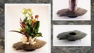 KenzanArt.com Kenzan Ikebana Stone vases Slate Vases