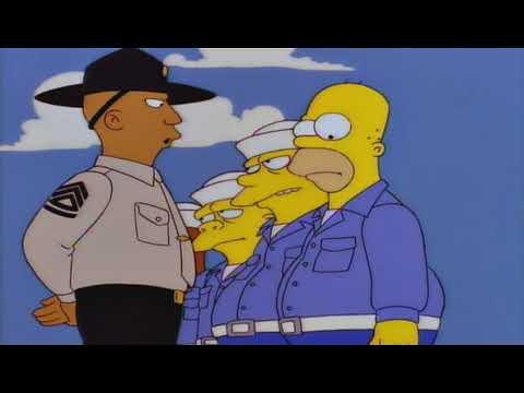 Le 1er jour d'Homer dans la marine de réserve