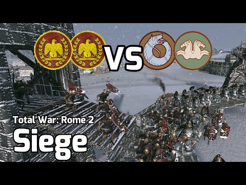 Total War: Rome 2 Online Battle #22 (2v2 Siege) - Frozen Stand