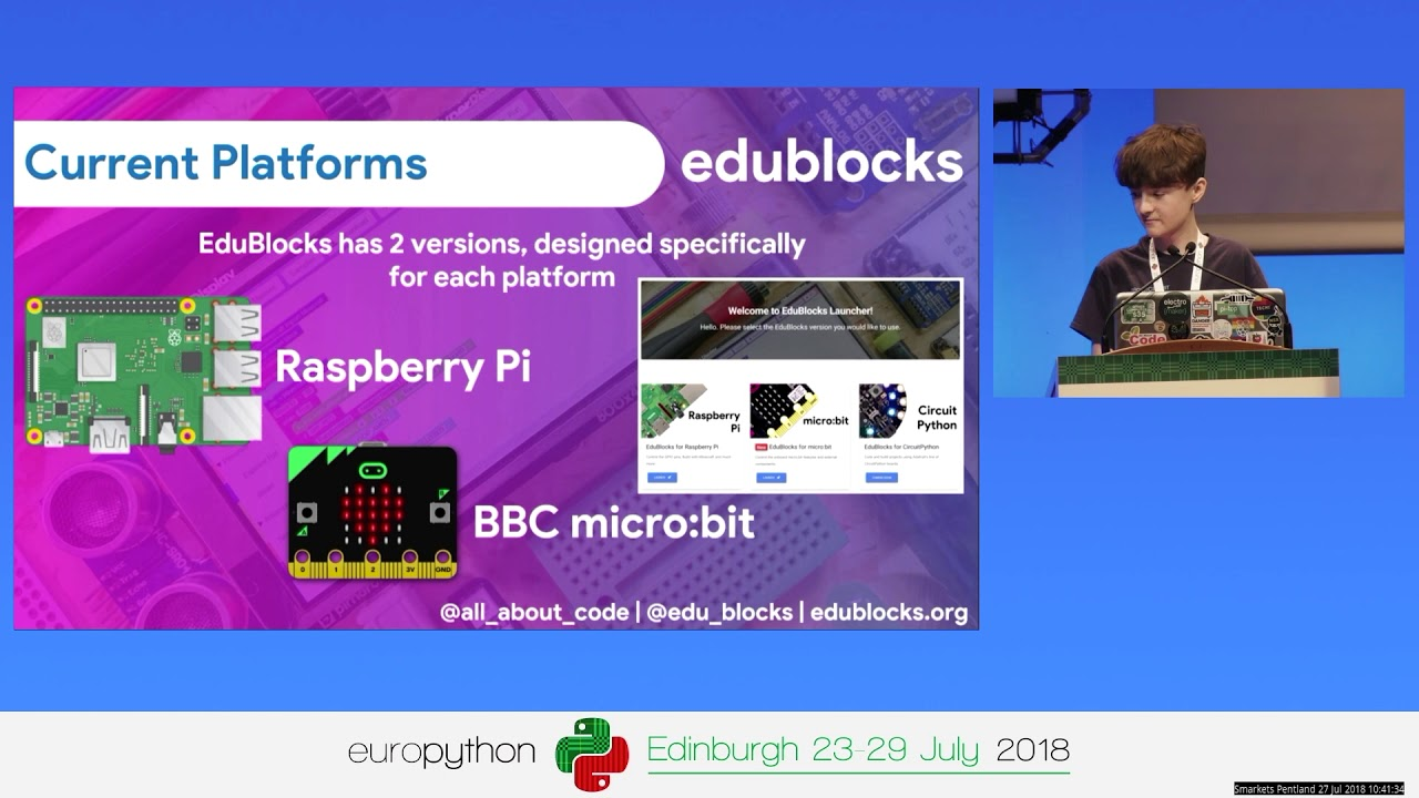 Image from EduBlocks - Making the transition to Python easier!