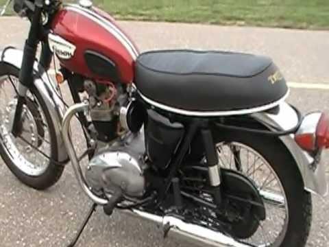 1968 Triumph Bonneville 650cc Motorcycle T120R - YouTube