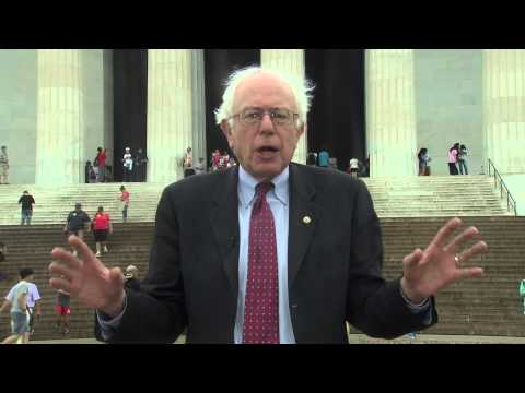 2 years ago, before he was running for President, Bernie made this video where he talks about the 50th anniversary of the March on Washington lead by Martin Luther King and explains what it was like to personally witness that historic event