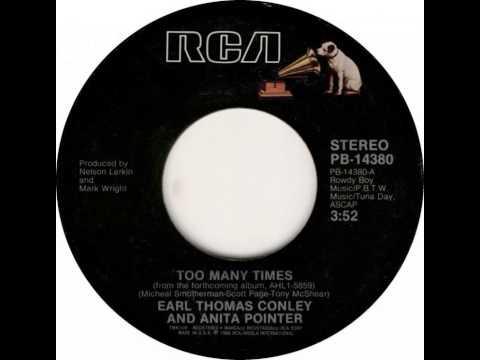 Earl Thomas Conley/Anita Pointer ~ Too Many Times