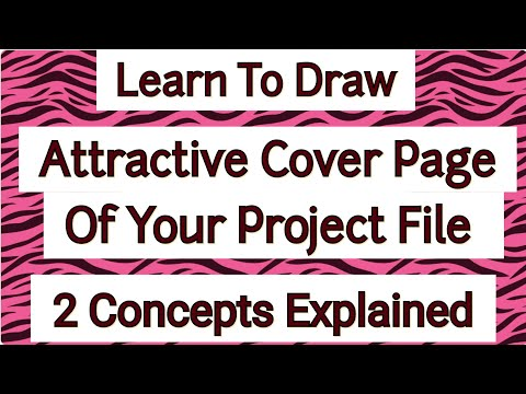 Project File Cover Page Design Decoration Ideas 2 Design Project