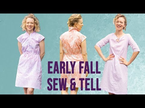 Early Fall sew and tell